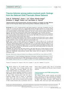 Trauma Histories among Justice-Involved Youth: Findings from the National Child Traumatic Stress Network Cover