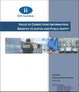 Value of Corrections Information: Benefits to Justice and Public Safety Cover