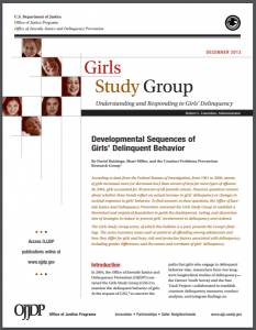 Development Sequences of Girls' Delinquent Behavior Cover