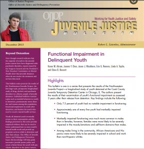 Functional Impairment in Delinquent Youth Cover