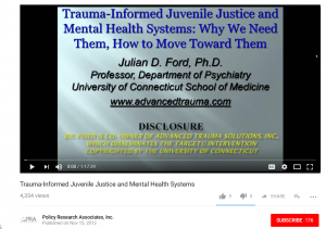 Trauma-Informed Juvenile Justice and Mental Health Systems: Why We Need Them, How to Move Forward Toward Them Cover