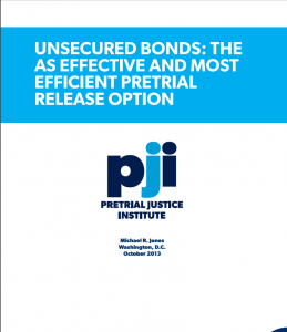 Unsecured Bonds: The Most Effective and Efficient Pretrial Release Option Cover
