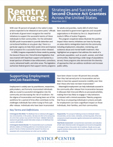 Reentry Matters: Strategies and Successes of Second Chance Act Grantees Across the United States Cover