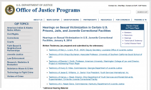 Hearings on Sexual Victimization in Certain U.S. Prisons, Jails, and Juvenile Correctional Facilities Cover