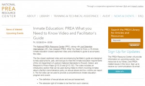 PREA: What You Need to Know Cover