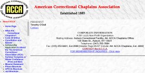 American Correctional Chaplains Association Cover