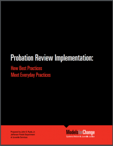 Probation Review Implementation: How Best Practices Meet Everyday Practices Cover
