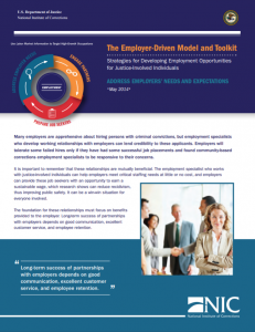 The Employer-Driven Model and Toolkit: Strategies for Developing Employment Opportunities for Justice-Involved Individuals: Address Employers' Needs and Expectations cover