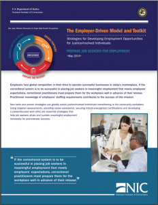 The Employer-Driven Model and Toolkit: Strategies for Developing Employment Opportunities for Justice-Involved Individuals: Prepare Job Seekers for Employment cover
