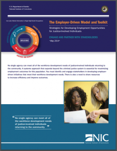 The Employer-Driven Model and Toolkit: Strategies for Developing Employment Opportunities for Justice-Involved Individuals: Engage and Partner with Stakeholders Cover