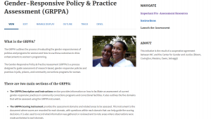 Gender-Responsive Policy & Practice (GRPPA) Cover