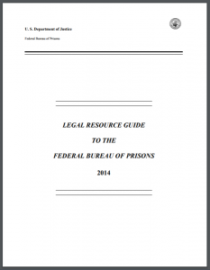 Legal Resource Guide to the Federal Bureau of Prisons Cover
