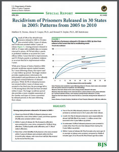 Recidivism of Prisoners Released in 30 States in 2005: Patterns from 2005 to 2010 Cover