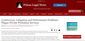 Controversy, Litigation and Performance Problems Plague Private Probation Services Cover