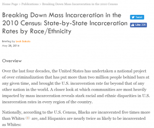 Breaking Down Mass Incarceration in the 2010 Census: State-by-State Incarceration Rates by Race/Ethnicity Cover