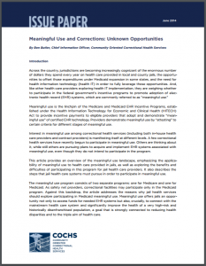 Meaningful Use and Corrections: Unknown Opportunities Cover