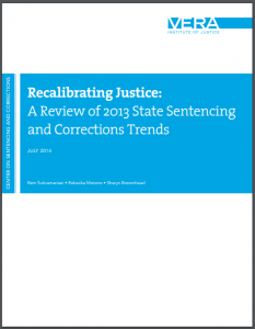 Recalibrating Justice: A Review of 2013 State Sentencing and Corrections Trends Cover