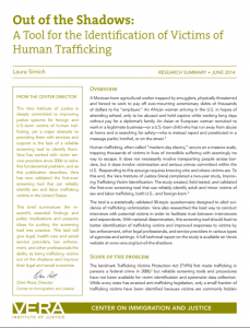 Out of the Shadows: A Tool for the Identification of Victims of Human Trafficking cover