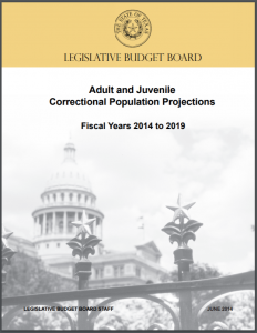 Adult and Juvenile Correctional Population Projections: Fiscal Years 2014 to 2019 Cover