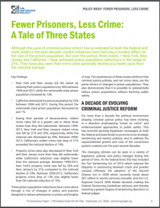 Fewer Prisoners, Less Crime: A Tale of Three States Cover