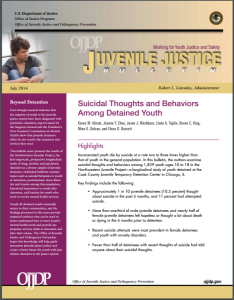 Suicidal Thoughts and Behaviors Among Detained Youth Cover