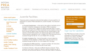 PREA Audit Instrument – Juvenile Facilities Cover