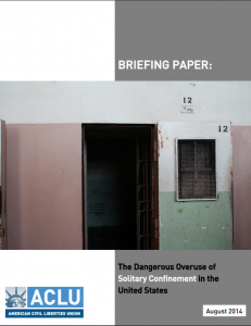 Briefing Paper: The Dangerous Overuse of Solitary Confinement in the United States Cover