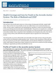 Health Coverage and Care for Youth in the Juvenile Justice System: The Role of Medicaid and CHIP Cover