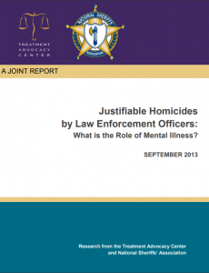 Justifiable Homicides by Law Enforcement Officers: What is the Role of Mental Illness? Cover