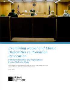 Examining Racial and Ethnic Disparities in Probation Revocation Cover