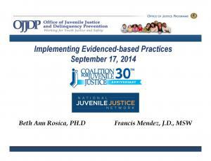 Implementing Evidence-Based Services [Webinar] Cover
