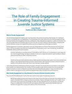 The Role of Family Engagement in Creating Trauma-Informed Juvenile Justice Systems Cover