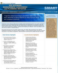 Sex Offender Management Assessment and Planning Initiative Cover