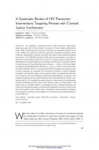 A Systematic Review of HIV Prevention Interventions Targeting Women with Criminal Justice Involvement Cover