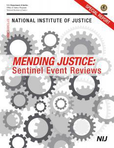 Mending Justice: Sentinel Event Reviews Cover