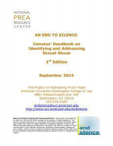 An End to Silence: Inmate's Handbook on Identifying and Addressing Sexual Abuse, 3rd Edition Cover