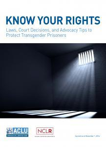 Know Your Rights: Laws, Court Decisions, and Advocacy Tips to Protect Transgender Prisoners Cover