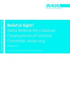 Relief in Sight? States Rethink the Collateral Consequences of Criminal Conviction, 2009-2014 Cover