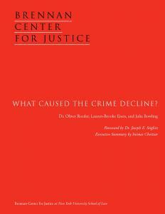 What Caused the Crime Decline? Cover
