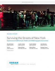 Surviving the Streets of New York: Experiences of LGBTQ Youth, YMSM, and YWSW Engaged in Survival Sex Cover