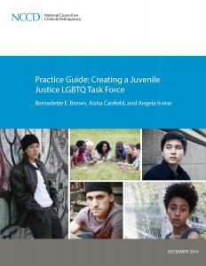 Practice Guide: Creating a Juvenile Justice LGBTQ Task Force Cover