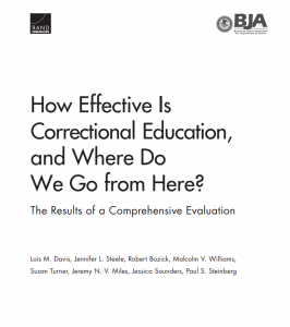 How Effective is Correctional Education, and Where Do We Go from Here? The Results of a Comprehensive Evaluation Cover