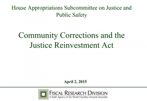 Community Corrections and the Justice Reinvestment Act cover