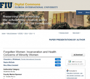 Forgotten Women: Incarceration and Health Concerns of Minority Women cover