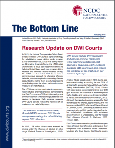 Research Update on DWI Courts Cover