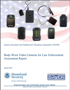 Body-Worn Video Cameras for Law Enforcement Assessment Report cover