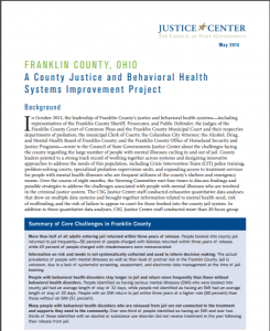 Franklin County, Ohio: A County Justice and Behavioral Health Systems Improvement Project cover