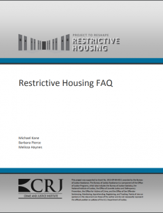restrictive housing faq cover