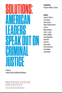Solutions: American Leaders Speak Out on Criminal Justice cover