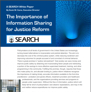 The Importance of Information Sharing for Justice Reform cover
